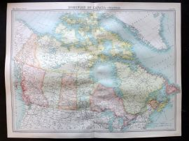 Bartholomew 1922 Large Map. Dominion of Canada, Political